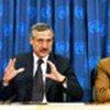 Les présidents des comités, l'ambassadeur du Chili, Heraldo Munoz (à gauche) et l'ambassadeur de l'Espagne, Inocencio F. Arias