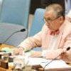 Le président du Conseil, l'ambassadeur Inocencio Arias d'Espagne