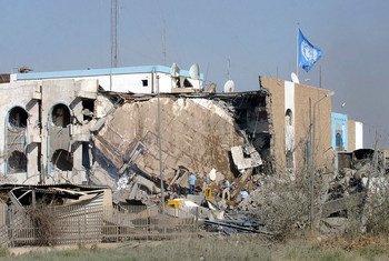 Штаб-квартира ООН в Багдаде после теракта 19 августа 2003 г.