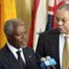 Kofi Annan et Colin Powell