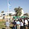 Cérémonie de levée du drapeau à l'hôtel Canal de Bagdad (archives, sept 2003)