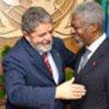Annan and Brazilian President da Silva