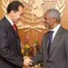 Kofi Annan et João Paulo Cunha