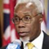 Le Président du Conseil, Ismael Abraão Gaspar Martins, s'adresse à la presse