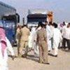 Iraquiens de retour dans leur pays en provenance du camp de camp, en Arabie saoudite