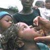 Children being immunized against polio