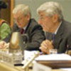 Ruud Lubbers (right) and Poul Nielson
