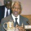 Kofi Annan lors de la conférence de commémoration du génocide rwandais