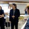 Angelina Jolie visiting with asylum seekers