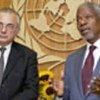 Kofi Annan (droite) et Ashraf Qazi, Représentant spécial pour l'Iraq (archives)