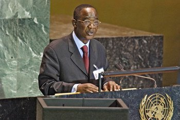 Mamadou Bamba, Minister for Foreign Affairs of Côte d'Ivoire, addressing the General Assembly.