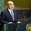 Askar A. Akayev, President of the Kyrgyz Republic, addressing the General Assembly.