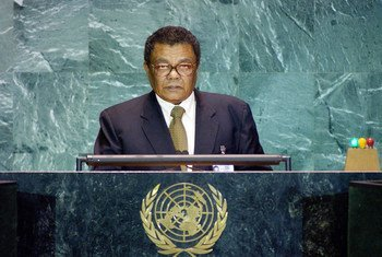 Foreign Minister Jérémie Bonnelame of Seychelles Addresses Fifty-Ninth Session of General Assembly.