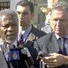 Kofi Annan (g) à Charm el-Cheikh