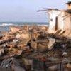Devastated homes on the northern coast of Sri Lanka.