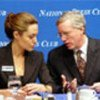 Jolie and William McCarren at luncheon to mark founding