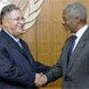 Kofi Annan (d) et Jalal Talabani (g) (archives)