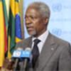 Kofi Annan briefs reporters