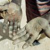 The hands of a labourer in Niger