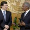 Kofi Annan (r) with EC chief Barroso