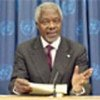 Annan briefs press on progress report