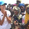 Angelina Jolie at a camp in Kenya (file photo)
