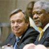 Kofi Annan (d) et  António Guterres (g) (archives)