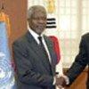 Kofi Annan and Foreign Minister Ban Ki-moon