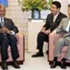 Annan with Prime Minister Junichiro Koizumi
