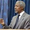 Kofi Annan at news conference