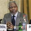 Kofi Annan addresses disarmament conference
