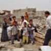 Displaced families in southern Iraq