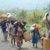 Group of IDPs heading towards Mugunga