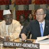 Ban Ki-moon (R) and Alpha Oumar Konare