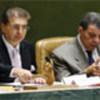 Srgjan Kerim (L) at the high-level dialogue