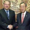 Ban Ki-moon and  Al Gore (file photo)