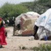 Displaced Somalis in a makeshift camp