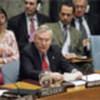 B. Lynn Pascoe briefs Security Council