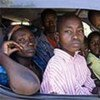 Some of the thousands of people fleeing post-electoral violence in Kenya