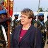 La Représentante spéciale de l'ONU au Libéria, Ellen Margrethe Løj.