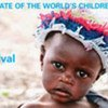 Couverture du rapport de l'UNICEF sur 'L'Etat des enfants dans le monde 2008', montrant un bébé de la province de Sofala au Mozambique.
