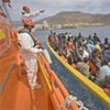 Boat loaded with migrants intercepted by coastguards