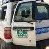 Un véhicule du HCR endommagé dans l'Est du Tchad (janvier 2008).
