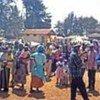 Displaced Kenyans at police station in Tigoni, 30 kilometres from Nairobi