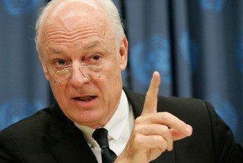 Le représentant spécial du Secrétaire de l'ONU pour l'Iraq, Staffan de Mistura.