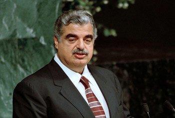 Rafic Hariri, Premier ministre du Liban assassiné.