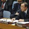 Secretary-General Ban Ki-moon addresses UN Security Council