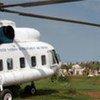 Hélicoptère du Programme alimentaire mondial (PAM).