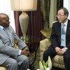 Secretary-General Ban Ki-moon and President Abdoulaye Wade of Senegal.