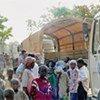 Des réfugiés de République centrafricaine sont transférés au camp de réfugiés de Dosseye. (Janvier 2008)